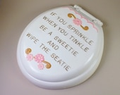 Chalkware  Bathroom Wall Plaque If You Sprinkle When You Tinkle