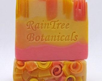 Soap– Summer Citrus Homemade Artisan Cold Process Soap// RainTree Botanicals