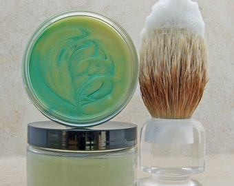 Bay Rum & Lime Men's Cold Process Shaving Soap with Bentonite Clay