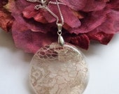 Vintage Lace Necklace Pendant - Lace Jewellery - Christmas Gift - Handmade Bridal Necklace