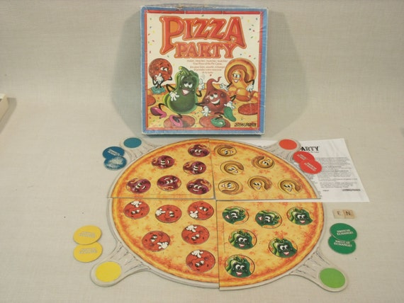 Pizza party game 1987