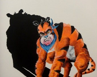 "Tony the Tiger - Art Print/Reproduction - 11"" x 15""  No.5 in the Breakfast Cereal Monsters series"
