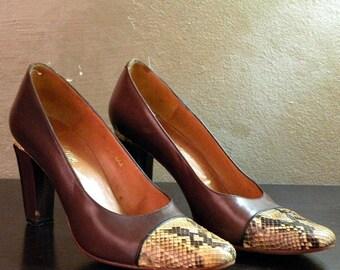 70s Rosina Ferragamo Sexy Snakeskin Shoes    8