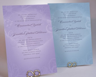Hearts Wedding Invitation Suite, Pastel Colors, Modern Design from our Spring Collection
