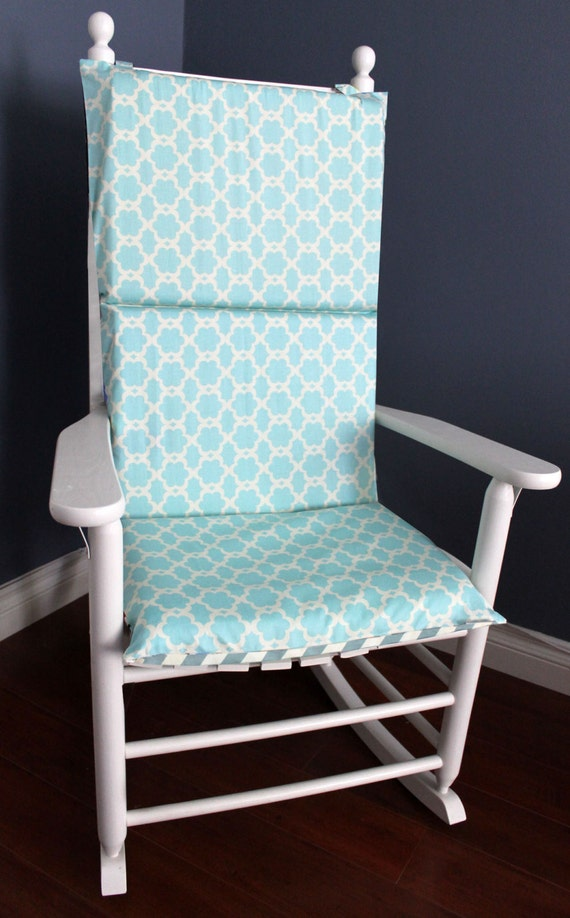 on sale rocking chair cushion cover baby blue by rockincushions. Black Bedroom Furniture Sets. Home Design Ideas