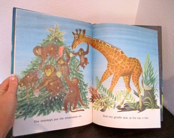 LARGE hardback book The golden christmas tree book by jan wahl  1988