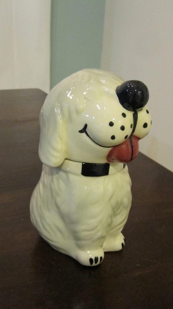 "VINTAGE McCOY ""DAN The DOG"" Ceramic Pottery cookie treat jar"