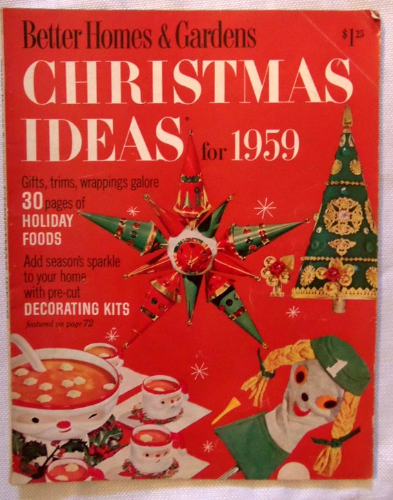 better homes and gardens christmas ideas for 1959 vintage. Black Bedroom Furniture Sets. Home Design Ideas