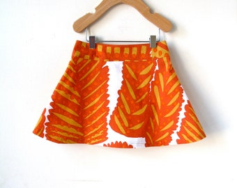 2T Thanksgiving Skirt in Marimekko Cotton - Autumn Leaves