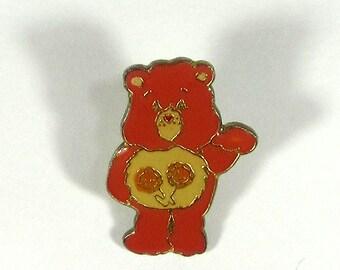 "American Greetings Care Bear ""Friend Bear"" Enamel Cloisonne Pin Vintage 1980's"