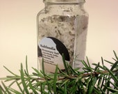 Infused Celtic Grey Sea Salt with Rosemary 3.5oz in a 4 Corner Spice Jar
