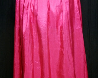 Full Length Steampunk Skirt - Hot Pink with drawstring waist