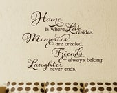 Home Wall Decal - Family Wall Art - Bedroom Decor - Living room Decor - Love Wall dEcal