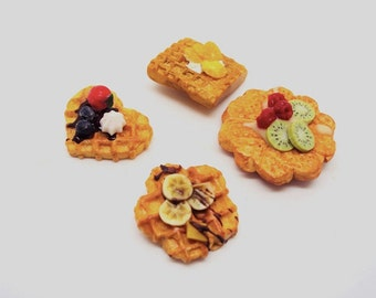 Polymer Clay Waffles  Magnets in Miniatures