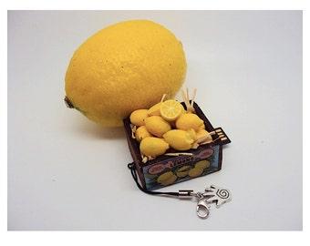 Miniature Lemons in Wooden Crate 4 GB Flash Drive