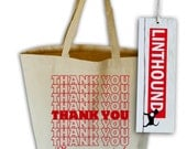 Thank You Natural Canvas Grocery Tote Bag