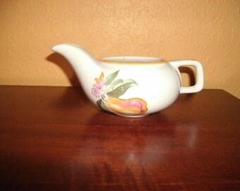 Vintage/Creamer/PITCHER/White/Fruit/ Design/USA