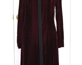 1960's Burgundy Velveteen R&K Dress