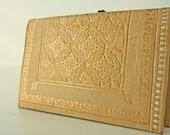 Vintage Supple Leather Wallet 22K Gold