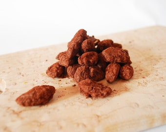 Dark Chocolate Covered Almonds Roasted in Caramel Organic Fair Trade