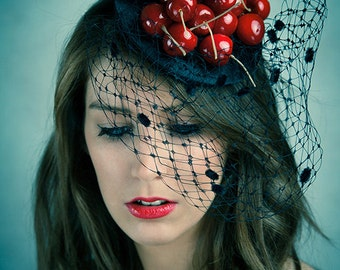 Cherries fascinator