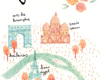 Paris A4 Art Print
