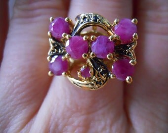 Unique Ruby and Sapphire Ring