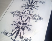 Bicycle Totem: Artist Print Variations