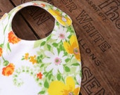 Baby Bib made from vintage floral fabric FREE shipping within Australia