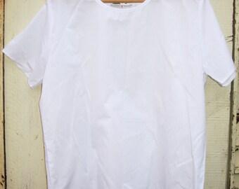 Vintage  90s White Oversized Top Blouse grunge