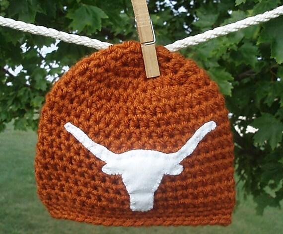 Crochet Pattern For Texas Longhorn Afghan : Items similar to University of Texas, UT, Longhorn ...