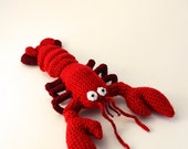 Lobster Crochet Pattern, Lobster Amigurumi Pattern, Crochet Lobster Amigurumi Pattern, Crochet Lobster Pattern, Animal Amigurumi