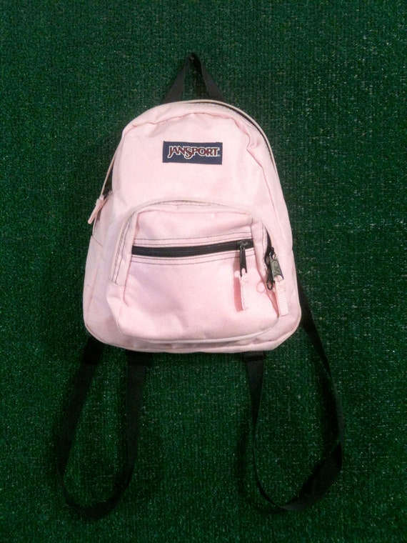 Light Pink Jansport Mini Backpack 90s Clueless by badatpettingcats
