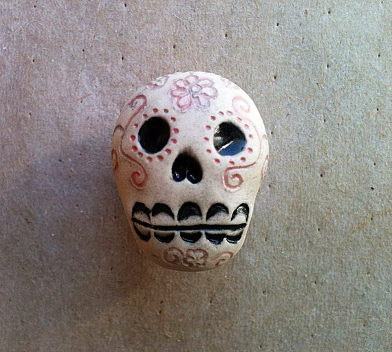 Da de los Muertos skull furniture knobs Day of the Dead
