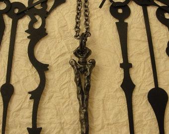 Gothic Jewelry, Dark Fashion, Clock Hands, Gothic Necklace, Goth Jewelry, Dark Jewelry, Medieval Jewelry, Gothic, Vampire, Mourning Jewelry