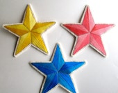 Christmas tree star topper choose color yellow blue or pink holiday ornament
