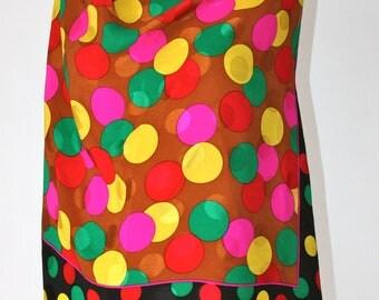 Carlisle Scarf - Silk - Pink Polka Dot Themed Ladies Scarf