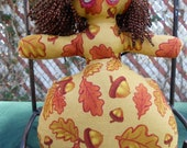 Autumns Leaves and Acorns Goddess Doll