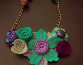The Max Felt Flower Statement Necklace
