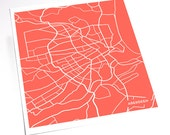 Aberdeen UK Street Map Art Print  / Custom City Artwork / 8x10 / Your color choice