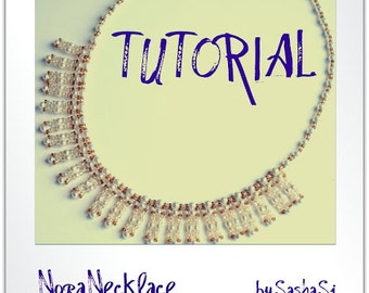 Beading Tutorial DOWNLOAD  - Nora Necklace with Twin PDF