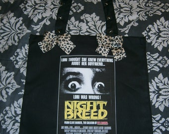 NIGHT BREED horror tote bag