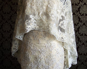 Beaded Lace Cape
