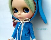 Adorable Long Ears Bunny  Hoodie (Model 1)