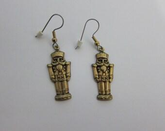 Rebbeca Gray Gold Tone Bit of Heaven Soldier Earrings