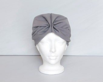 Vintage 1950s grey turban hat