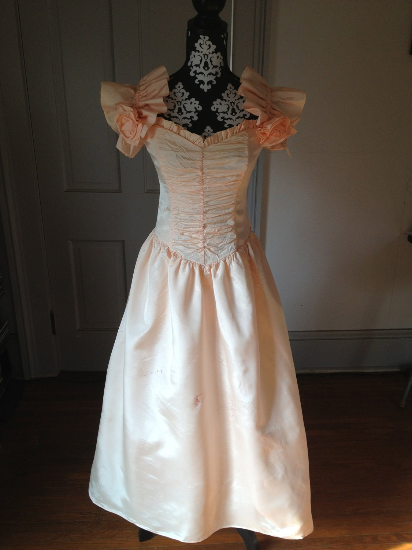 80s Peach Prom Dress by DumpstrDivingDiva on Etsy - photo #20
