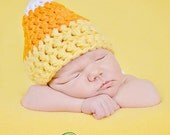 Instant Download - Candy Corn Hat Crochet Pattern - PDF - newborn to 4 years - photography prop - Halloween