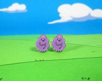 Adventure Time Earrings Lumpy Space Princess