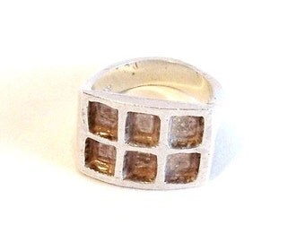 Vintage 1980s Sterling Silver Ring: Size 5 1/4  - D0011